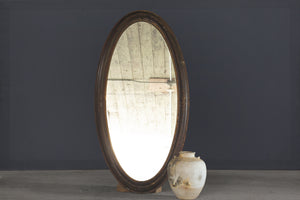 19th Century Large Oval Victorian Mirror