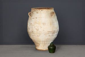 Very Large 19th Century Cretan Urn with White Wash