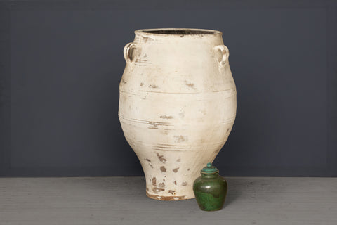 19th Century Cretan Urn with White Wash