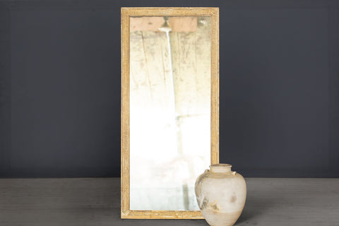 Mid 18th Century Tall French Mirror with Traces of Gilt