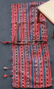 Red, Blue And Brown Striped Saddle Bag