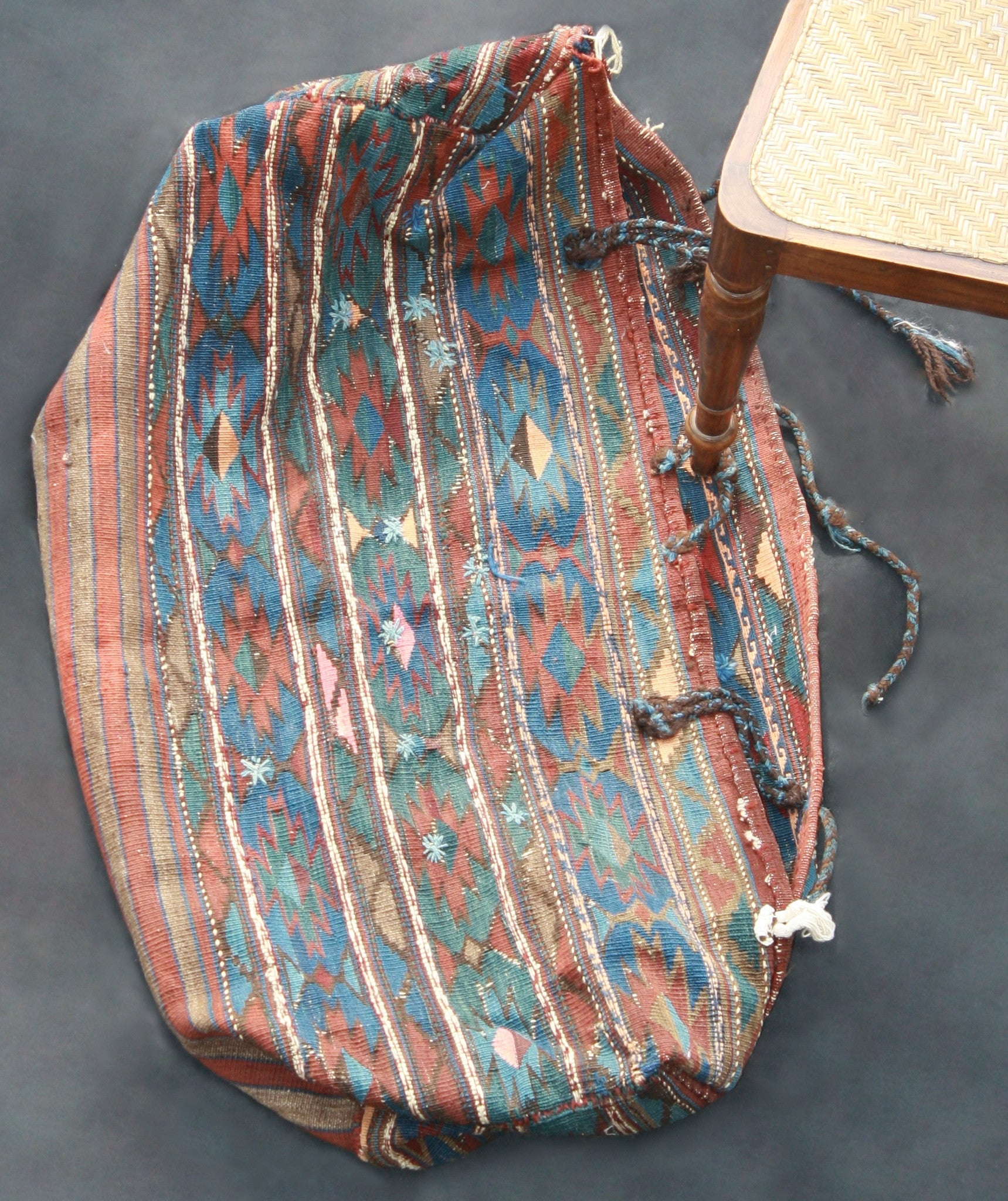 Kars Cradle Bag With Blue And Brown Design