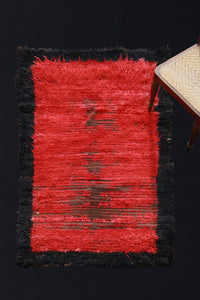 "Konya Tulu Carpet- Red with Black Boarder .... (3' 7"" x 5' 2"")"
