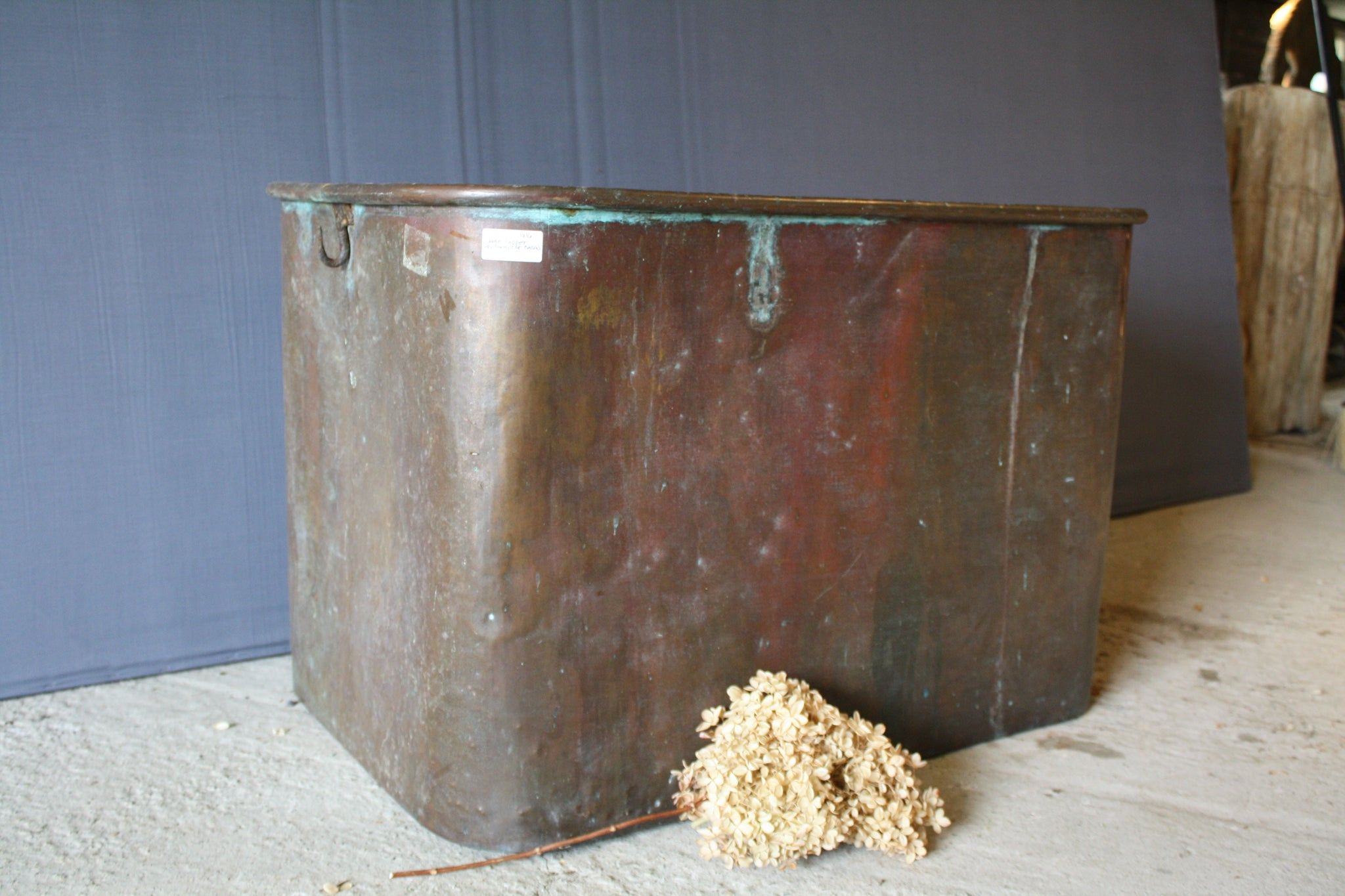 Large 19th Century French Rectangular Copper Basin