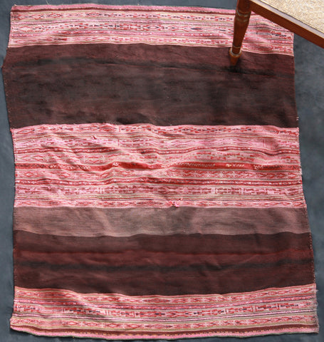 Peruvian Pink And Brown Stripe Textile