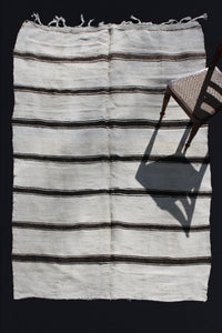 Light Hemp With Thick And Thin Dark Brown Stripes