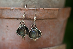 Pair of Mini Gemstone Earrings