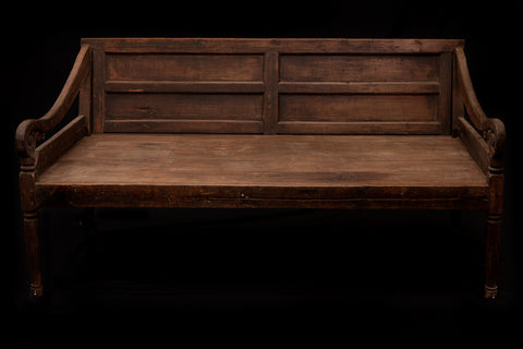 Deep Seated Dutch Colonial Bench
