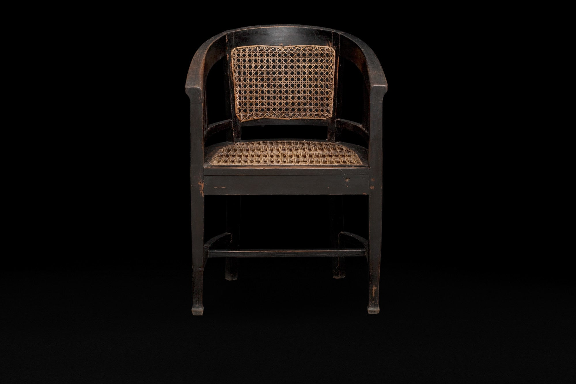 Teak Barrel Back Chair