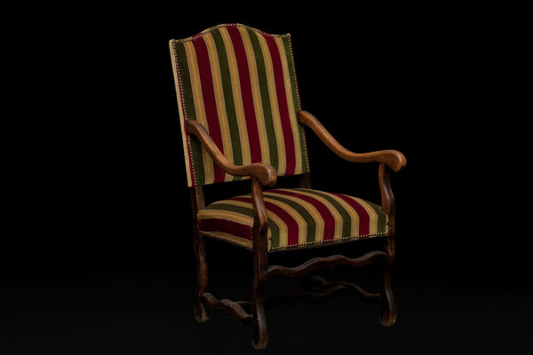 Pair of Late 19th / Early 20th Cent. French Louis XIV Style Arm Chairs