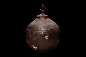 Brown Glaze Tsung Dynasty Storage Jar as a Lamp