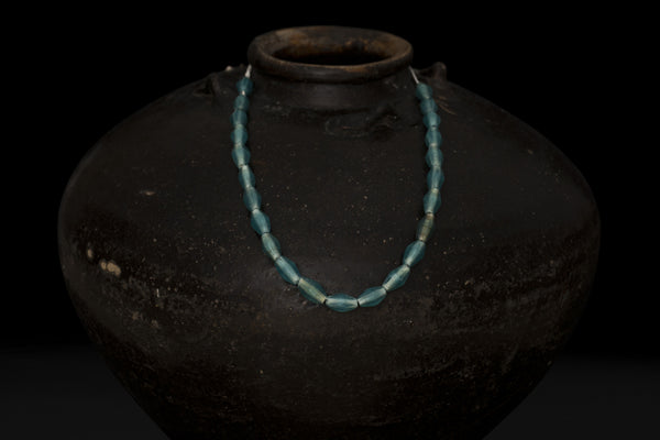Blue Glass Borneo Trade Beads