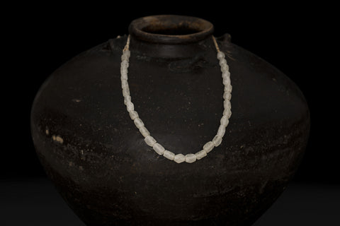 White Glass Borneo Trade Beads