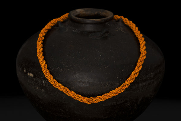 Orange Multi Strand Beaded Necklace from Flores