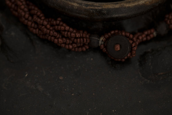 Brown Multi Strand Beaded Necklace from Flores