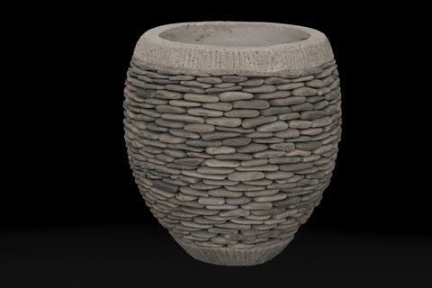 Small Ovoid Riverstone Pot