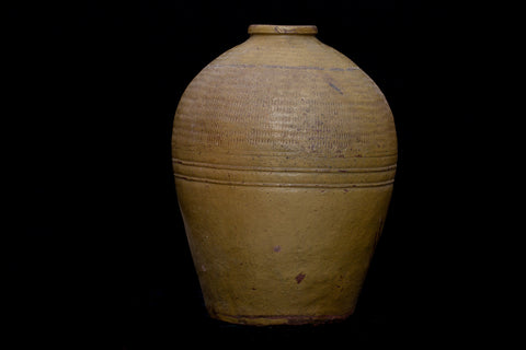 19th Century Large Yellow Thai Jar