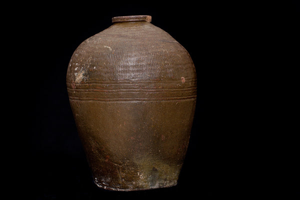 19th Century Large Brown Thai Jar