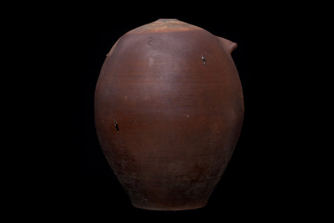 Large French 19th Century Stoneware Coco Jar from Lyon
