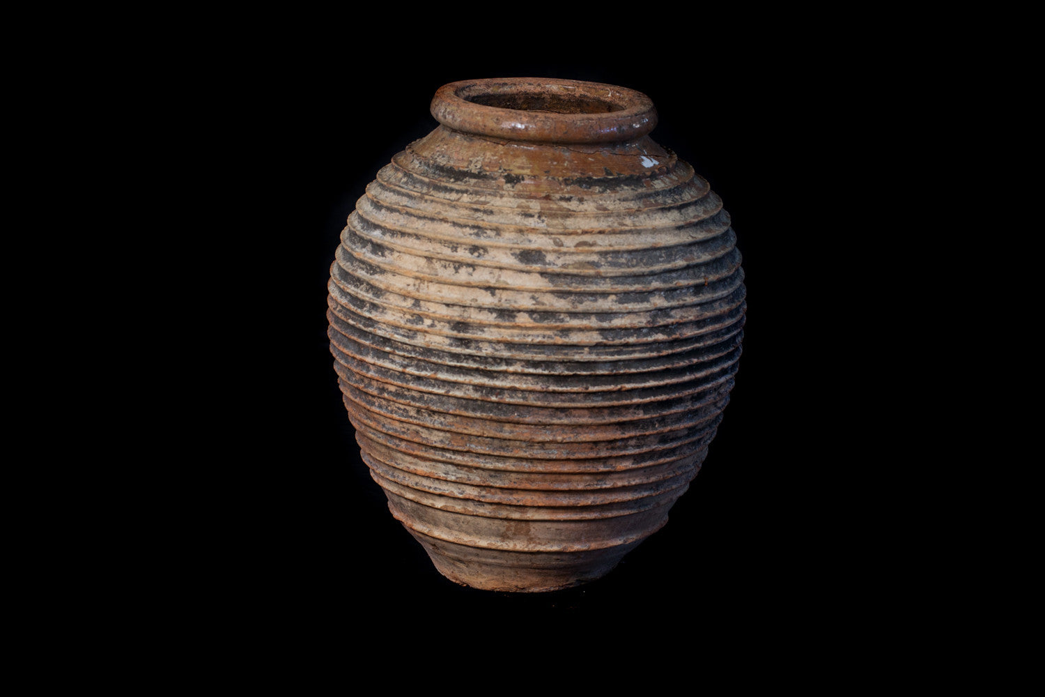 Large 18th Century Peloponnesian Terra Cotta Olive Oil Jar