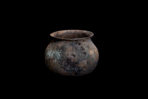Small Ancient Bronze Looking Pot from a Sumatran Shipwreck