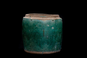 Large Green Glaze Borneo Storage Pot