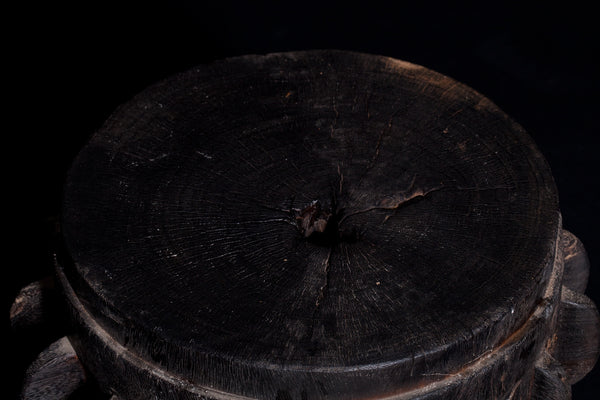 Large Ebonized 18th Century Cog from Javanese Sugar Cane Mill