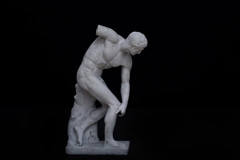 19th Century Plaster Figure of the Discus Thrower