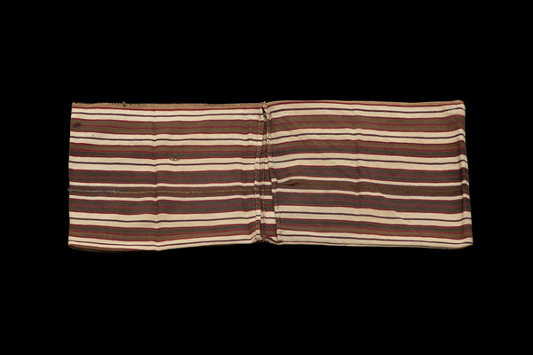 "Acik Heybe Natural Stripe Saddle Bag ............ (2' 1.5"" x 5' 8.5"")"