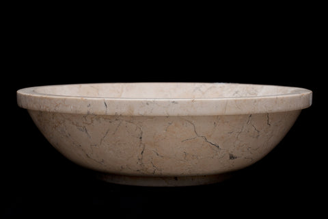 Beige Round Travertine Sink