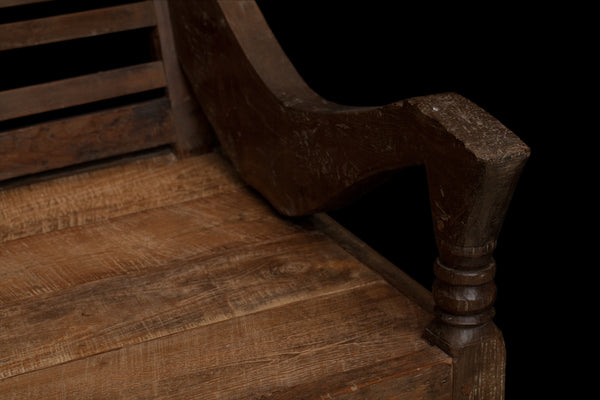 19th Century Dutch Colonial Deep Seat Madura Bench