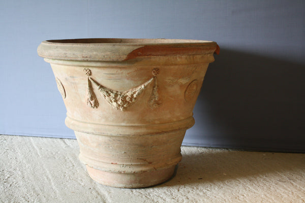 Large Italian Terra Rosa Lemon Tree Pot (With Damage On Rim)