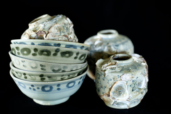 19th Century Blue&White Ching Dynasty Tea Bowls