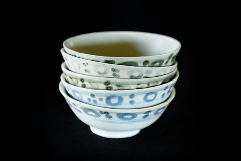 19th Century Blue & White Ching Dynasty Tea Bowls