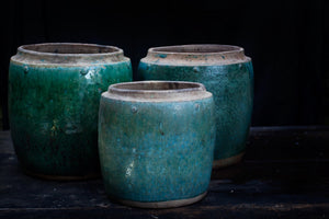 19th-20th Century Green Glazed Borneo Pots