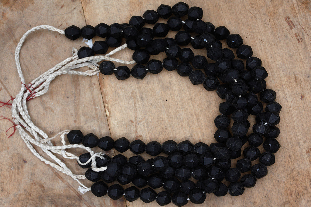 Black Glass Borneo Trade Beads