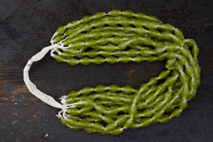 Green Glass Borneo Trade Beads
