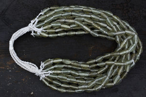 Sage Glass Borneo Trade Beads