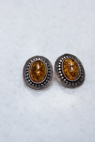 Pair of Topaz Clip On Earrings