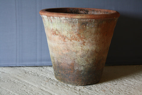 Large Mossy Terra Cotta Pot