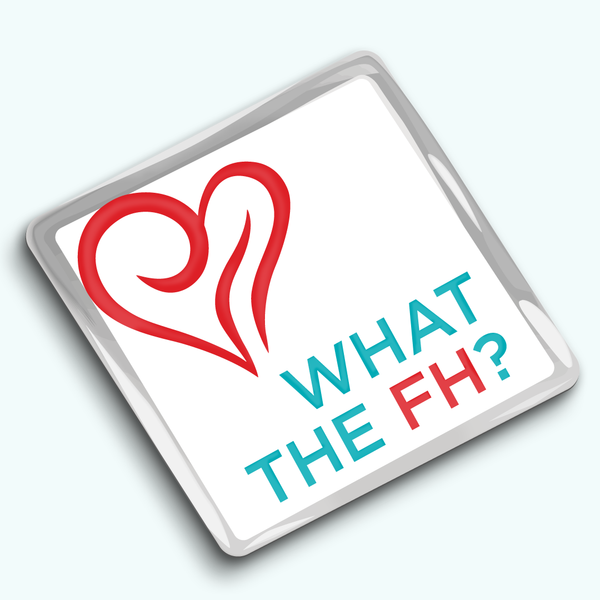 Photo of What the FH enamel pin