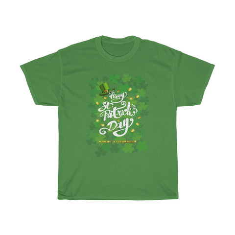 Happy St Patrick's Day A Night to Remember Shamrock Hat Irish Unisex Heavy Cotton Tee