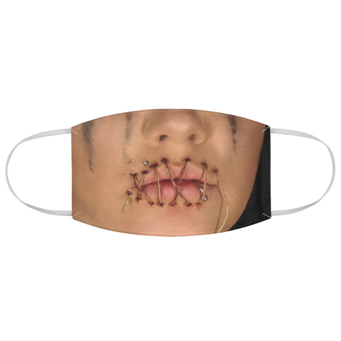 Girl Mouth Sewn Shut Horror Halloween Gore Fabric Face Mask
