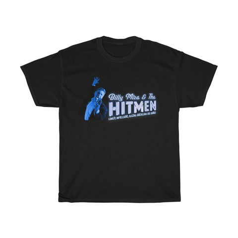Billy Mira & The Hitmen Blue Logo Unisex Heavy Cotton Tee