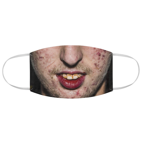 Gross Zit Pimple Face Bad Teeth Man Halloween Fabric Face Mask