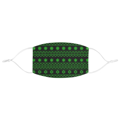 Christmas Ugly Sweater Snowflake Wrapping Paper Green XMAS Fabric Face Mask