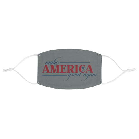 Make America Great Again Grey Fabric Face Mask President Donald J Trump