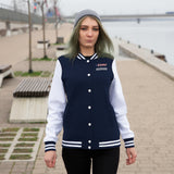 TRUMP 452020 Women's Varsity Jacket - Black & White or Navy & White or Royal & White