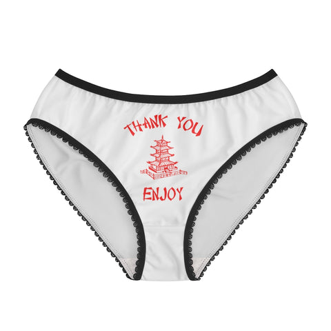 Chinese Food Container Pagoda Thank You Enjoy Women's Briefs