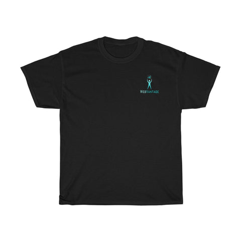 WebVantage Logo Design Production Unisex Heavy Cotton Tee